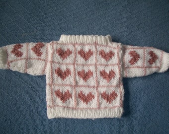 Pink Hearts Sweater