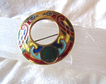 Cloisonne Enameled Pin Brooch
