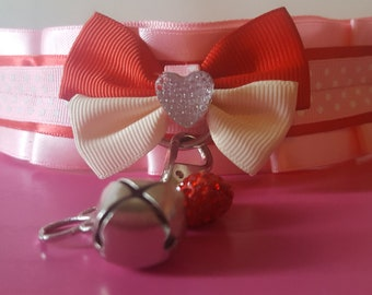 Strawberry Shortcake Inspired Kitten Play Collar/Choker