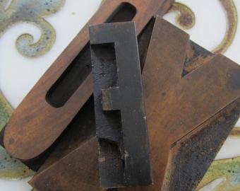 Letter F Vintage Letterpress Wood Type Printers Block