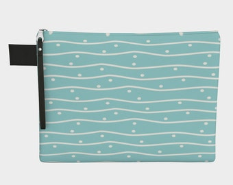 Hand Drawn Pattern | Carry All | Craft Case | Art Case |Brush Bag | Accessory Bag | Organizer
