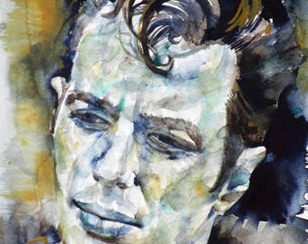 JOE STRUMMER - original watercolor portrait - one of a kind!