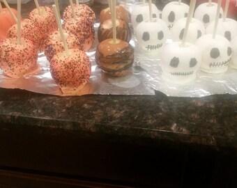 Halloween themed apples