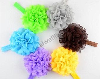 Chiffon Flower Headband,Baby Headband,Infant Headband, Newborn Headband