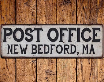 New Bedford, Ma Post Office Vintage Look Metal Sign Chic Retro 6182387