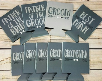 groomsman gift wedding party can coolers / custom wedding party gifts / groomsmen gift idea / usher gifts / best man gifts