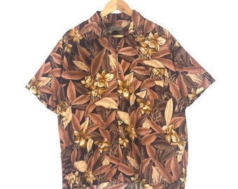 Rare! Vintage Goldova Hawaiian Button Down Hawaiian Shirt Medium Size