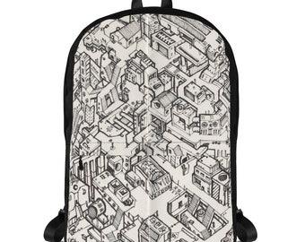 Cyberpunk Scifi Metropolis #01 - Backpack