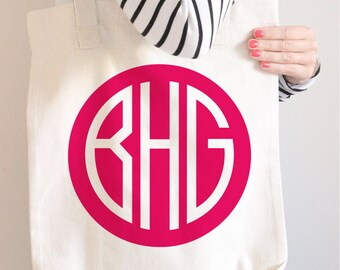 Monogram Tote Bag, Custom Tote Bag, Personalized Tote Bag, Monogram Bag, Canvas Tote Bag, Cotton Tote Bag, Gym Tote Bag, Pink Monogram Tote