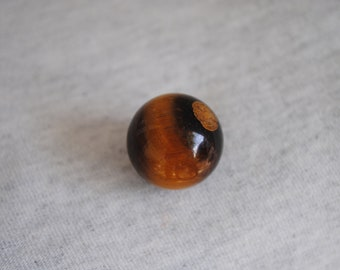 Tiger Iron,Golden Brown Tiger Eye, Hematite, Sphere, Healing Stone