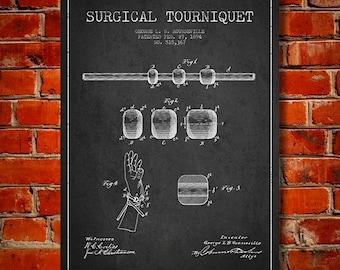 1894 Surgical Tourniquet Canvas Art Print, Wall Art, Home Decor, Gift Idea