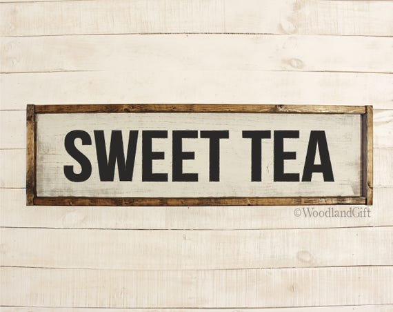 sweet tea sign sweet tea wood sign southern kitchen decor