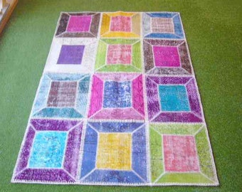 Patchwork rug Multi 28 - 3.9x6 ft. (120x184 cm)
