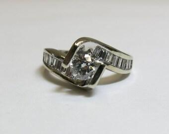 ladies diamond engagement ring 1 carat total