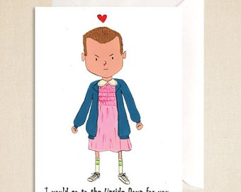 Eleven-Stranger Things Card