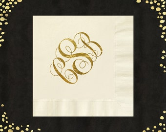 100+ Wedding Napkins Monogram Traditional Luncheon Napkins Beverage Napkins Personalized Cake Napkins Monogram Napkins LOTS of COLORS!