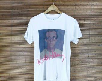 Vintage KEITH HARING X JOYRICH Crewneck Tshirt 90s White Size Small