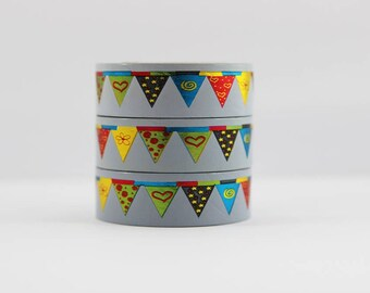 Washi tape foil tape colorful pennants birthday masking tape