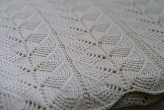 Punto patrón: Patrón de encaje manta del bebé de Gacoco patrón