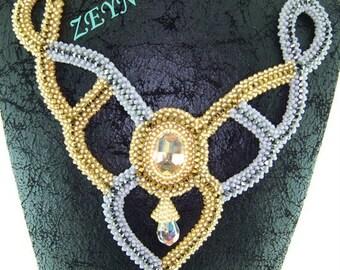 beaded necklace-crochet bead-custom made - handmade necklace