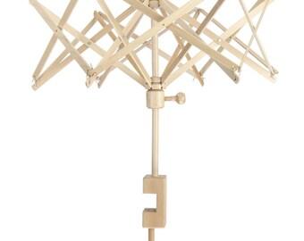 Umbrella Yarn Swift - birch wood - how to turn a skein of yarn into a ball