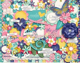 My Girl Digital Scrapbook Kit - INSTANT DOWNLOAD