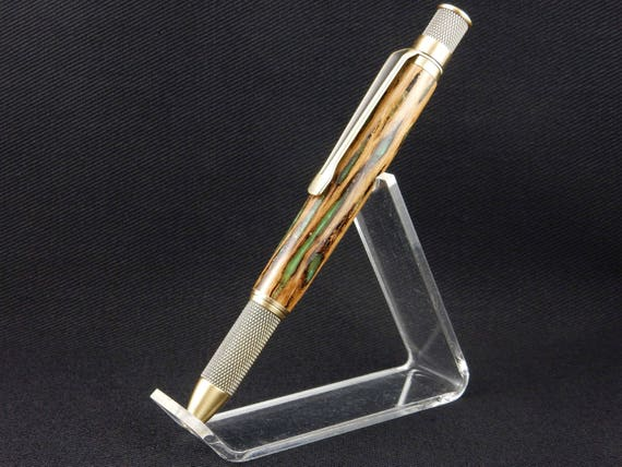 Retro Handmade Pen in Arizona Cholla Cactus, Infused with Resin