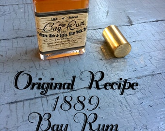 1889 Superior Bay Rum- Original Recipe- Great Gift For Him  Historical Guy Gift