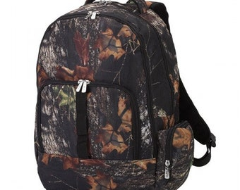 Woods Camo Backpack with FREE Name or Monogram, Back Pack