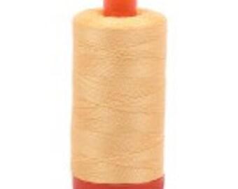Medium Butter Aurifil Mako Cotton Thread Color 2130, 50 wt, 1300m, 1 spool