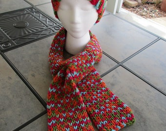 Bright Sparkle Hat and Scarf Set