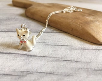 Cat necklace cute kitten necklace gifts for teen girls gifts for women cute jewellery mothers day gift stepmother inspirational womens gift