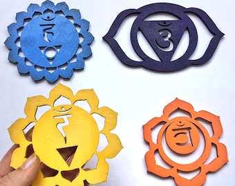SALE: Wooden Chakra Magnets