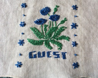 Guest towels sample stitches set of 3