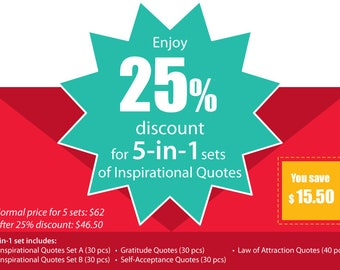 Inspirational Quotes 5-in-1 SPECIAL Set