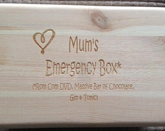 Laser Engraved Keepsake Box