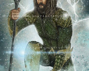 "DC's 'Aquaman',  11x17"" LIMITED Ed.  -Artist Signed Print"