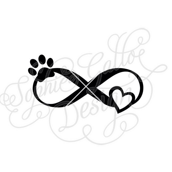 pet love infinity tattoo svg dxf png digital download file rh etsystudio com dxf clipart files us states dxf clip art for sale