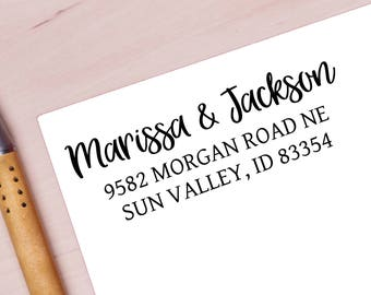 Personalized Return Address Stamp, Wedding Gift, Return Address Stamper, Stamp for Wedding Announcements, WeddingStamp with first names