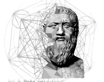 Plato vs Sacred Geometry T-shirt