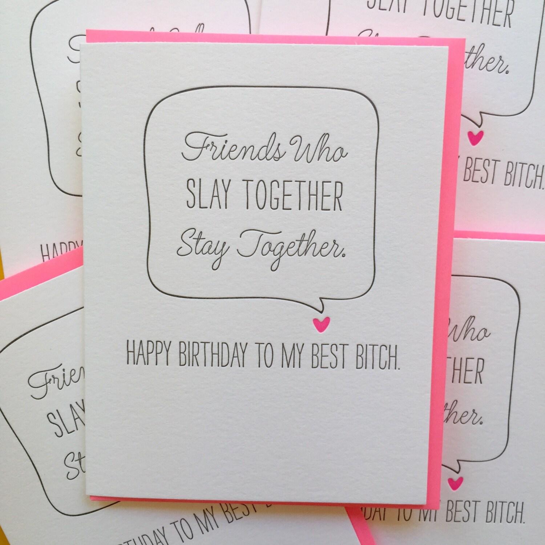 Best friend birthday card best bitch card i slay card zoom bookmarktalkfo Choice Image