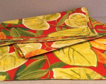 Set of 4 Place-mats for Outdoors and Indoors;  Reversible;  Handmade gift idea.