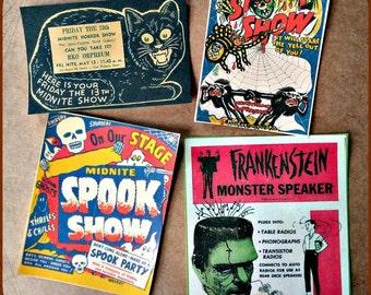 Vintage Halloween and Horror Stickers
