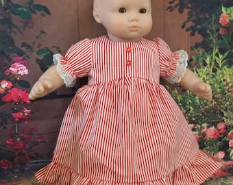 """Cool Cotton Summer Nighty for a 15"""" baby doll"""