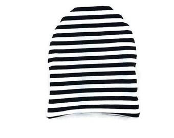 black stripe beanie - baby beanie- slouchy beanie - beanie - toddler beanie