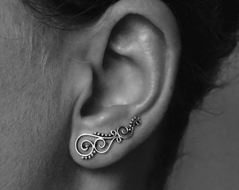 "earcuff ""spiral - dotted"""