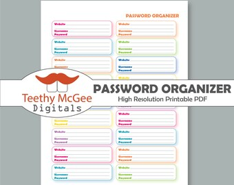 password template free