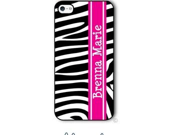Zebra Phone Case Monogram iPhone 6 Case Zebra iPhone 6s Case Samsung Galaxy S5 S6 Case iPhone 5 iPhone 6 Plus iPhone 5c Style 296