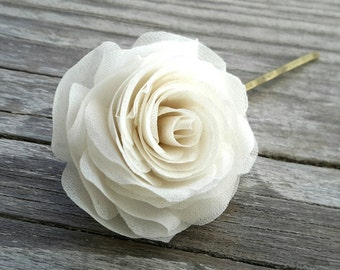Wedding Hair Flowers Ivory Rose Hair Pins Bridal Hair Accessories Bridal Hair Piece Wedding Hair Pin Bridal Headpiece Wedding Hair Piece