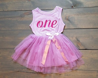 First Birthday Outfit Toddle Baby Girl Tutu #B-09